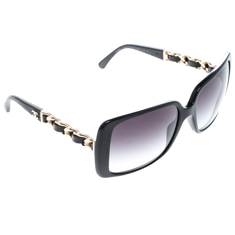 f156d07603 Buy Chanel Black Gradient 5208-Q Chain Link Square Sunglasses 144955 ...
