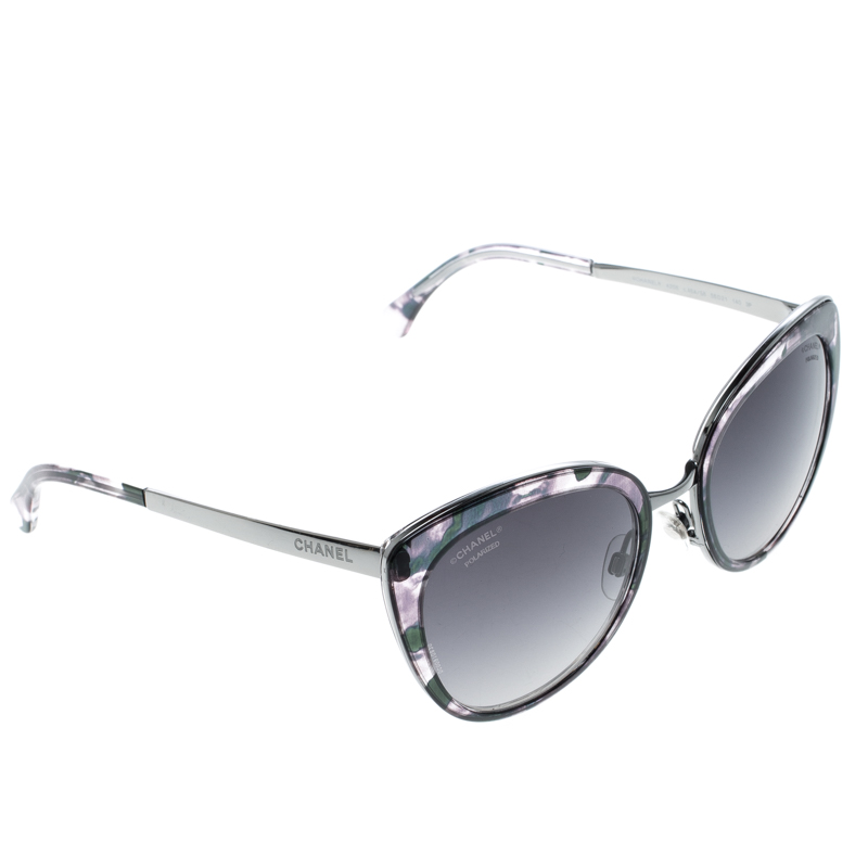 78a49e4a4e ... Chanel Camouflage/Black 4208 Cat Eye Sunglasses. nextprev. prevnext