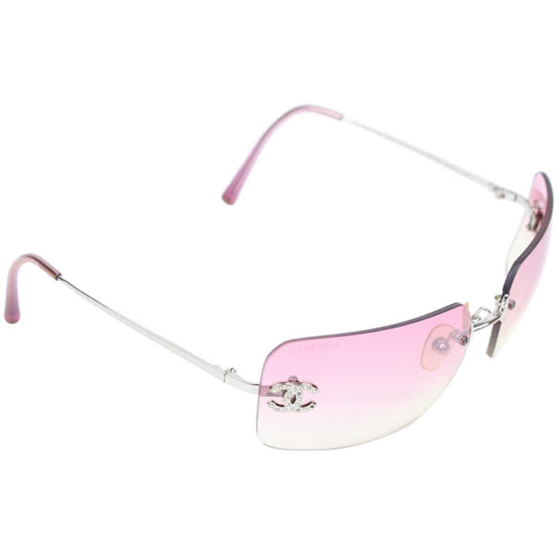 da509deb74d Buy Chanel Pink Gradient Tint CC 4017-D Square Sunglasses 149358 at ...