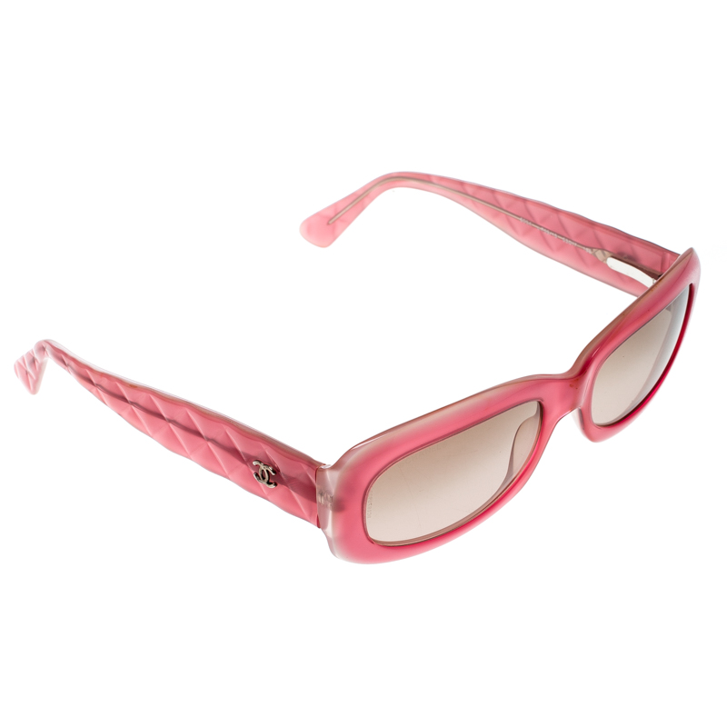 dd9f9ce359 Buy Chanel Pink Brown Gradient 5094 Oval Sunglasses 165782 at best ...