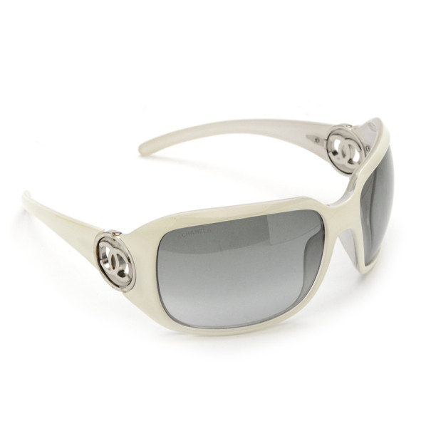 692c64b238f Buy Chanel 6023 White Metal CC Logo Woman Sunglasses 22468 at best ...