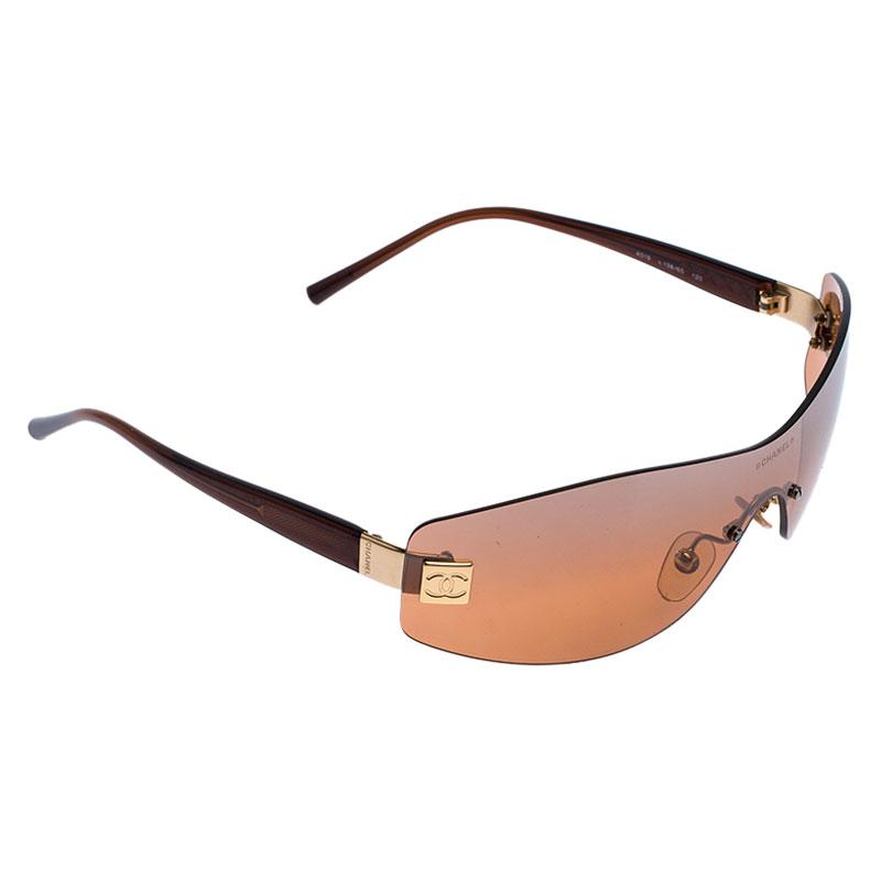Chanel Brown 4019 Rimless Sunglasses