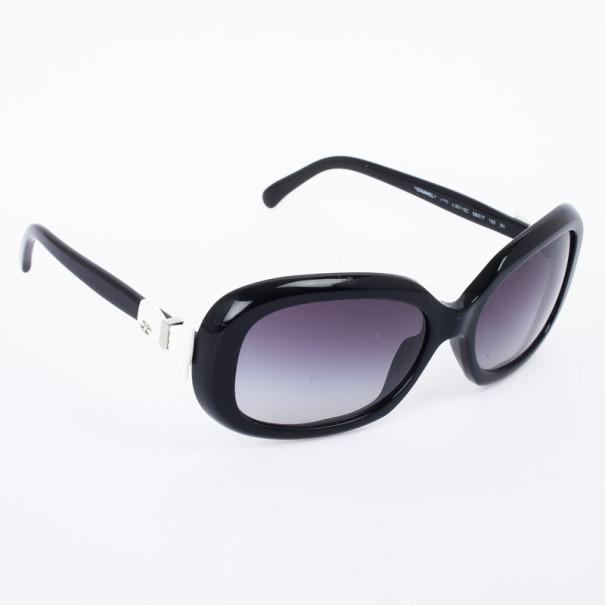 9c062092d5 Buy Chanel Black 5170 Bow Rectangle Women Sunglasses 28796 at best ...