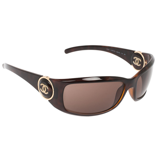 Buy Chanel 6030 Brown Frame CC Logo Women Sunglasses 30884 at best ... ea7a5754927b