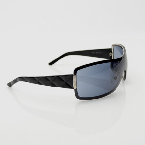 52d4a6ed517 Buy Chanel Black Shield Quilted 4126 Sunglasses 34321 at best price ...