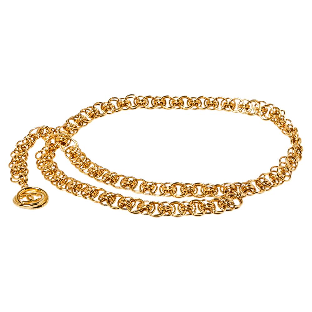 Chanel Vintage Gold Tone Chain Link Belt