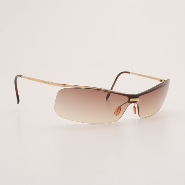 a9e12001d28 Buy Chanel Brown Rimless 4043 Sunglasses 37180 at best price