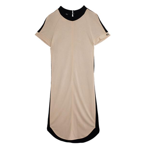 Chanel Monochrome Block Shift Dress S