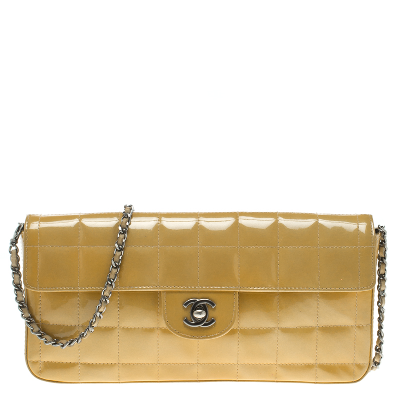 edca7a0bb827 ... Chanel Yellow Chocolate Bar Patent Leather East West Flap Bag.  nextprev. prevnext