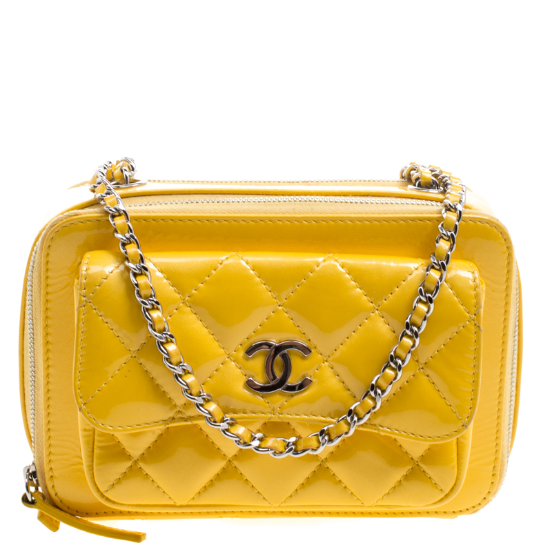 ... Chanel Yellow Quilted Patent Leather Camera Bag. nextprev. prevnext 70076d2b94d5a