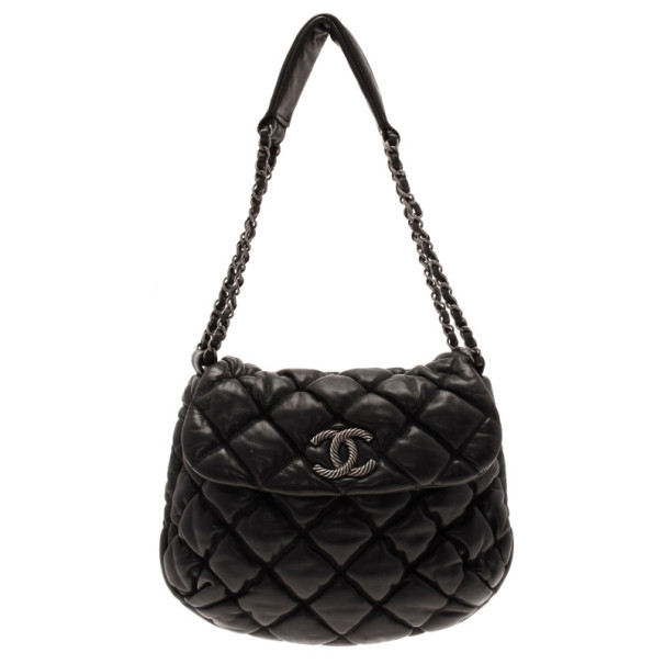 63213d69ffc5fa Buy Chanel Black Quilted Bubble Large Flap Bag 11078 at best price | TLC