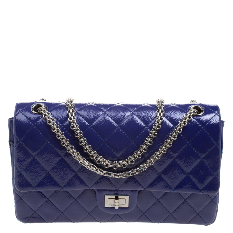 7a1c45f2ad94b6 ... Chanel Blue Quilted Caviar Patent Leather Reissue 2.55 Classic 226 Flap  Bag. nextprev. prevnext