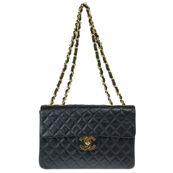 ef9a13a04d1c ... Chanel Black Lambskin Maxi Vintage Jumbo Flap Bag. nextprev. prevnext