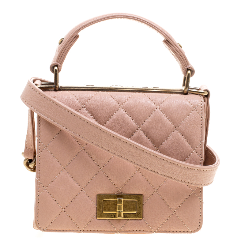 be35c8b9a079 Chanel Pink Quilted Leather Small Rita Flap Shoulder Bag 114264