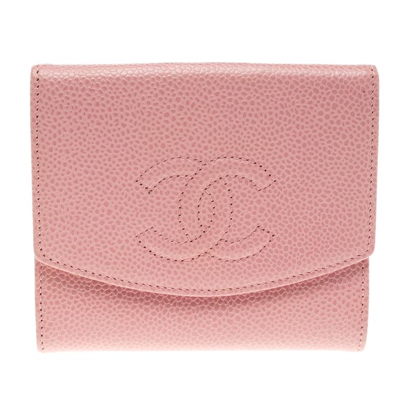 3d195c6cbc3f00 ... Chanel Pink Caviar Leather CC Logo Trifold Wallet. nextprev. prevnext