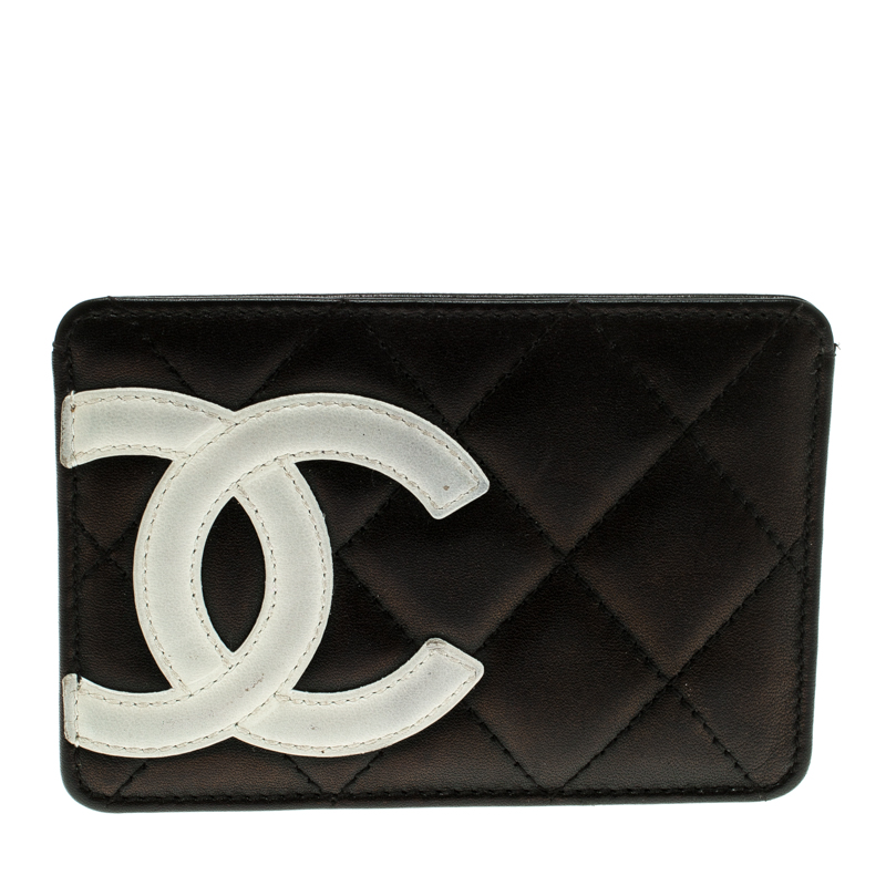 1e5c5be5815 ... Chanel Black Quilted Cambon Ligne Leather Card Holder. nextprev.  prevnext