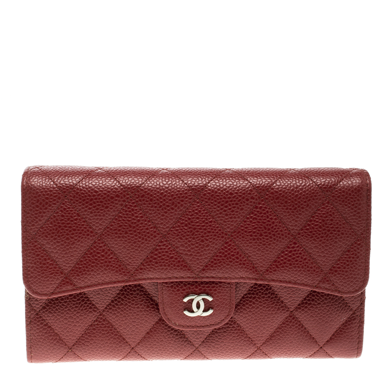 99a7b9130fe9 ... Chanel Red Quilted Caviar Leather Classic Flap Wallet. nextprev.  prevnext