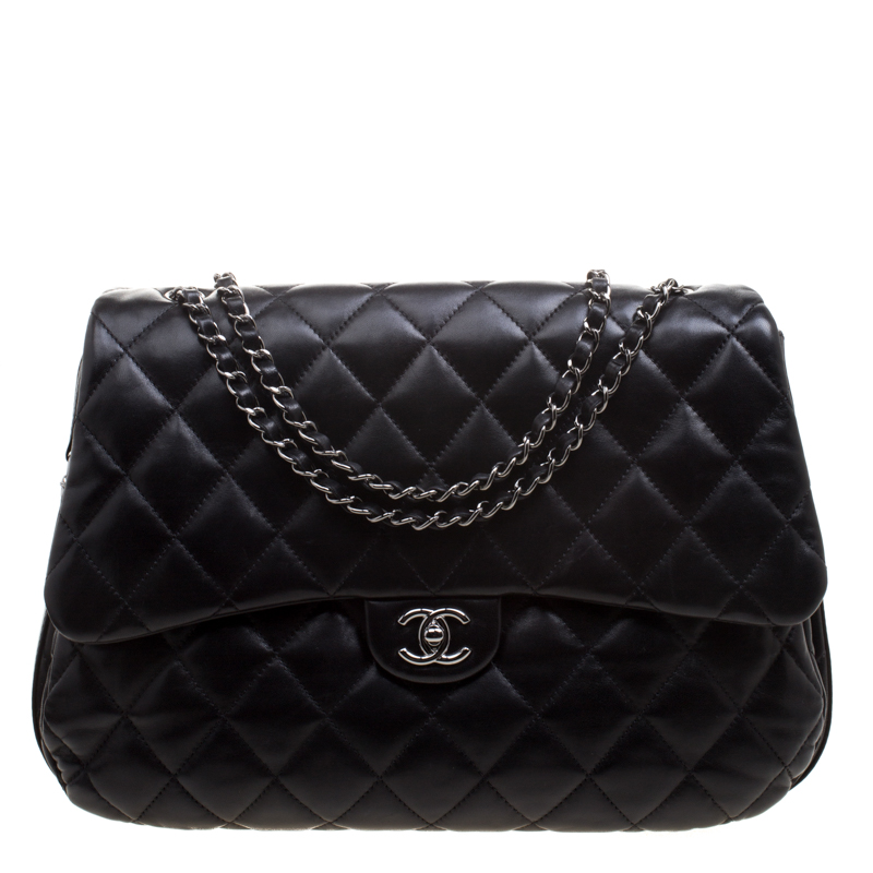 ef42bc72d3047e ... Chanel Black Quilted Leather 3 Accordion Flap Bag. nextprev. prevnext