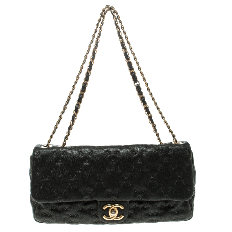 96f53a01b7b3 ... Chanel Black Quilted Wild Stitch Caviar Leather Classic Flap Shoulder  Bag. nextprev. prevnext