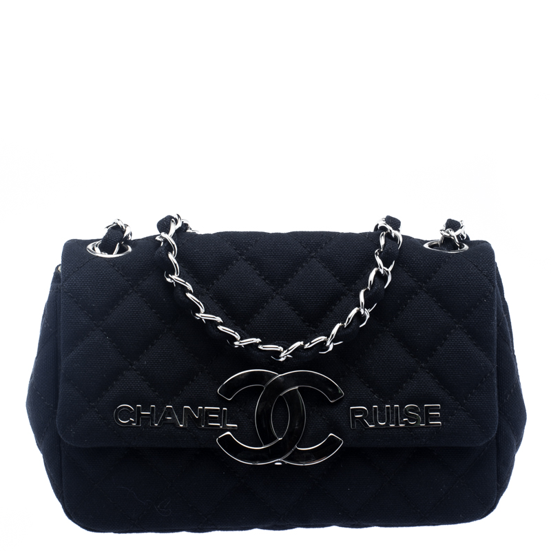 0d13488d9a30f5 ... Chanel Navy Blue Canvas CC Cruise Shoulder bag. nextprev. prevnext