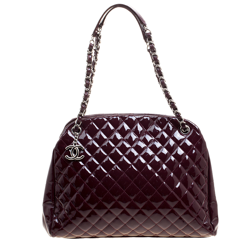 0a124d11d1405b ... Chanel Burgundy Quilted Patent Leather Just Mademoiselle Bowling Bag.  nextprev. prevnext