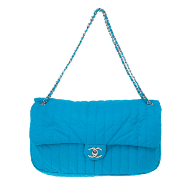 489a81987078 Buy Chanel Blue Nylon Flap Bag 12269 at best price