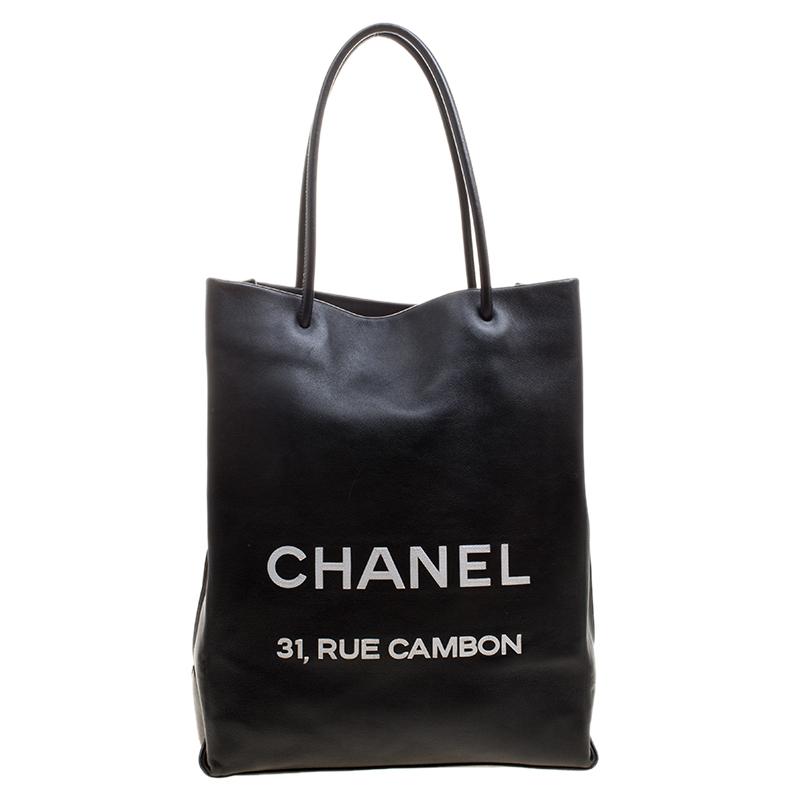... Chanel Black Leather Medium Essential Rue Cambon Shopping Bag.  nextprev. prevnext e82b1348ba