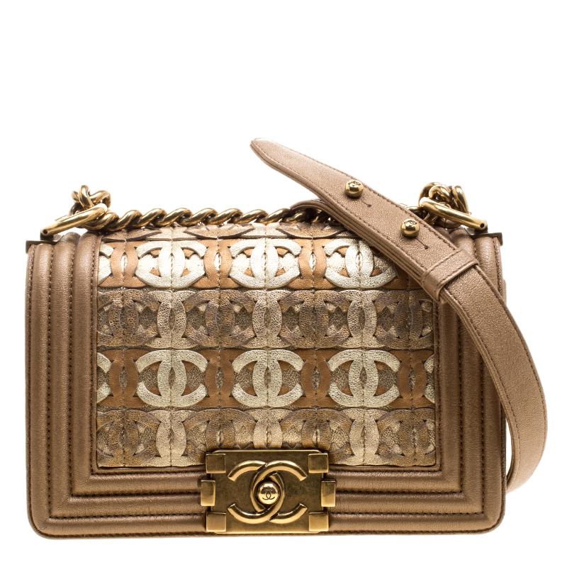 bf79ab94cbdc ... Chanel Bronze Leather CC Cutout Small Boy Flap Bag. nextprev. prevnext
