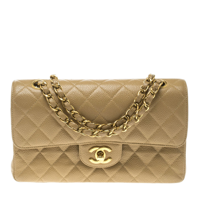 a11bf2499e75 ... Chanel Beige Quilted Caviar Leather Small Classic Double Flap Bag.  nextprev. prevnext