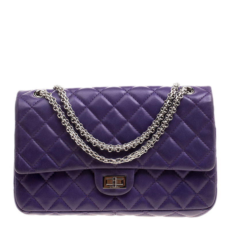 7b4399a6429b Buy Chanel Purple Quilted Leather Reissue 2.55 Classic 226 Flap Bag ...