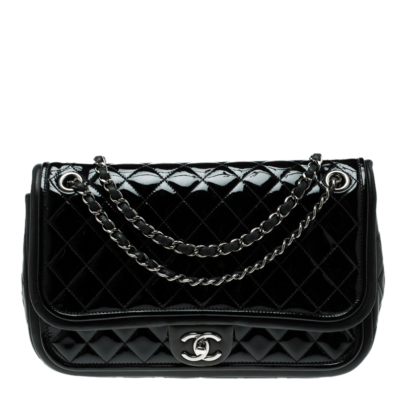 f59cbe382209 ... Chanel Black Quilted Patent Leather Classic Flap Bag. nextprev. prevnext