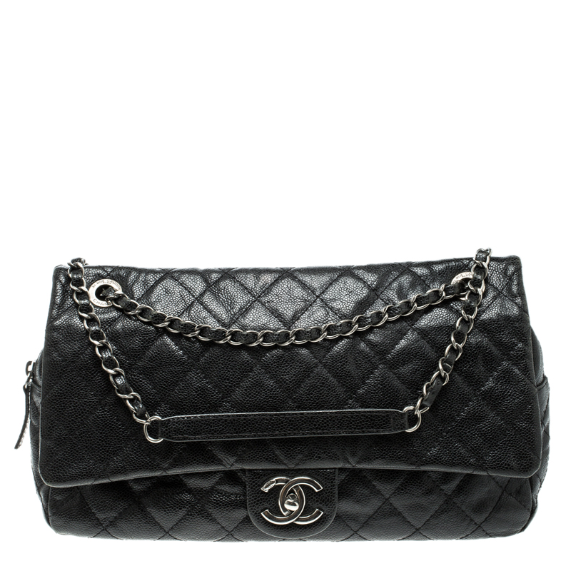 7dc00cb5a26b ... Chanel Black Quilted Caviar Leather Large Easy Flap Bag. nextprev.  prevnext