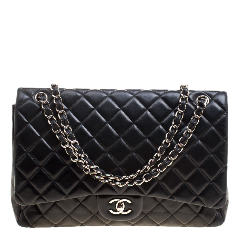ade757999be6 ... Chanel Black Quilted Leather Maxi Classic Single Flap Bag. nextprev.  prevnext