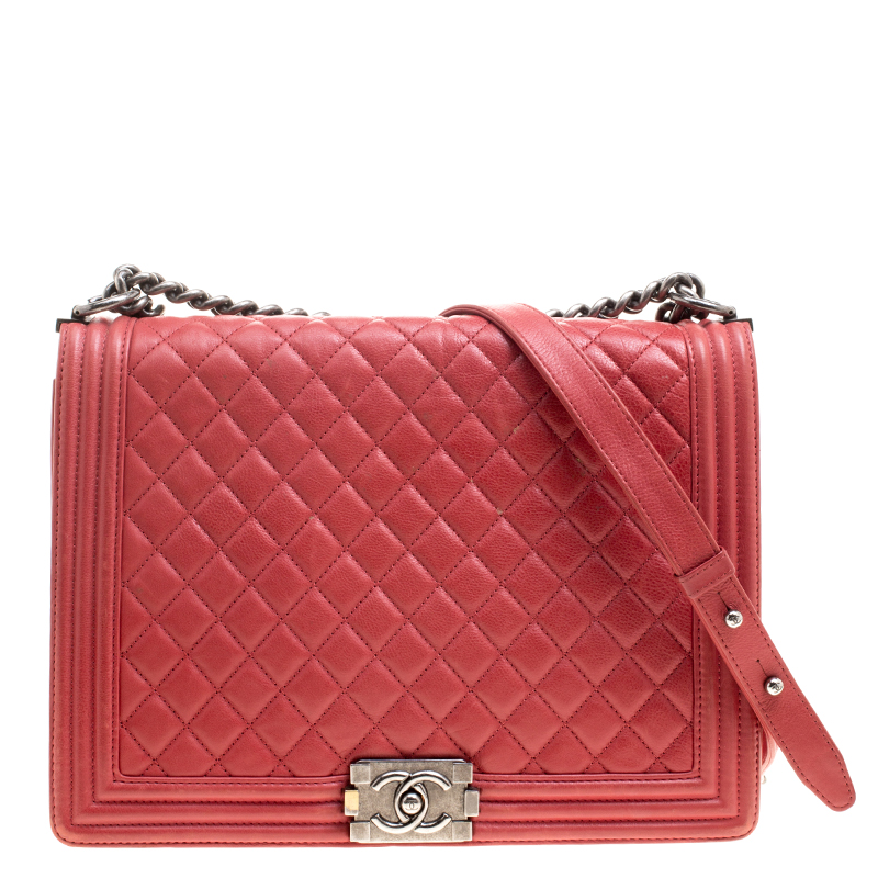 342da72cd71a ... Chanel Red Quilted Leather Large Boy Flap Bag. nextprev. prevnext