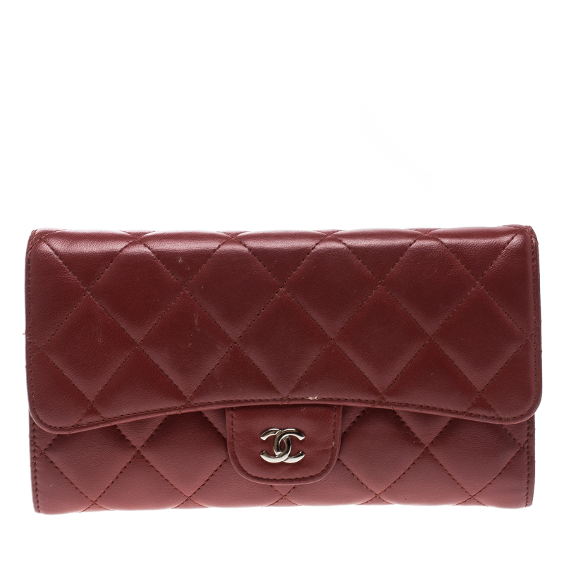 24c475ec974a ... Chanel Red Quilted Leather Classic Flap Wallet. nextprev. prevnext