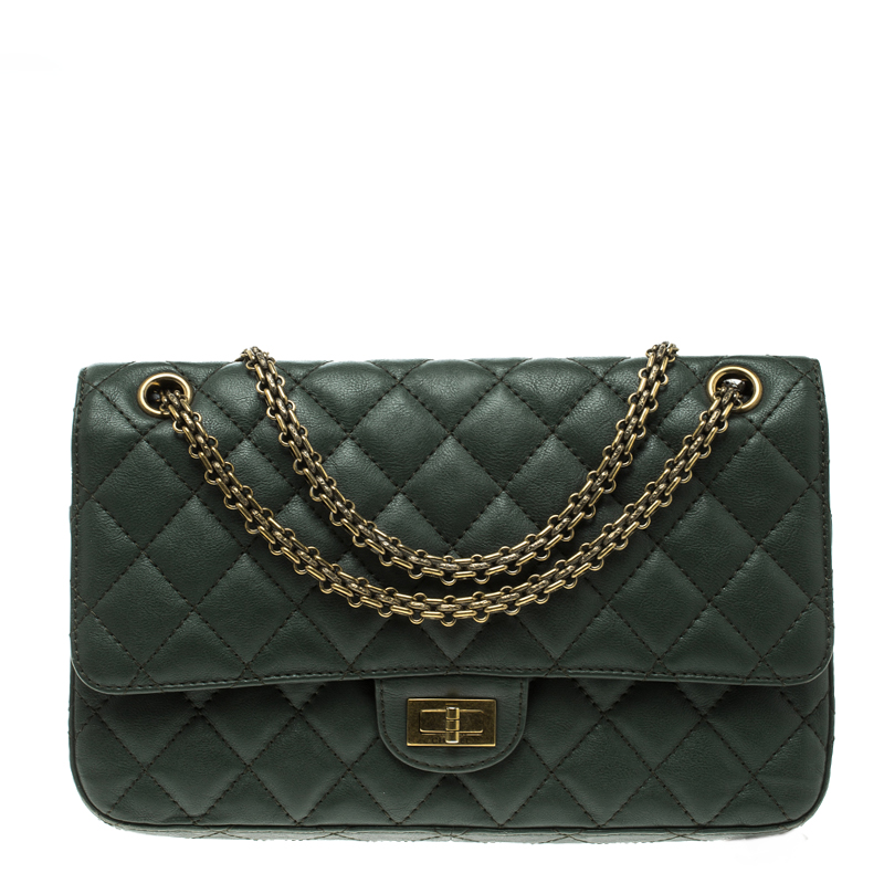 af92cad97eedc7 ... Chanel Green Quilted Leather Reissue 2.55 Classic 226 Flap Bag.  nextprev. prevnext
