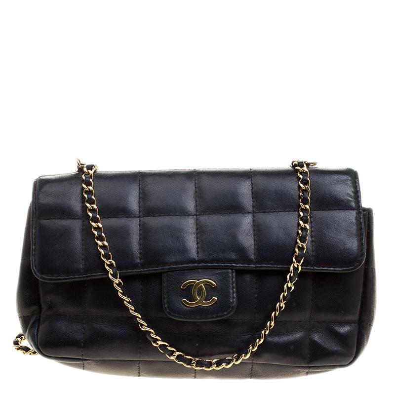 d20b5ba4910d ... Chanel Black Chocolate Bar Quilted Leather East West Flap Shoulder Bag.  nextprev. prevnext