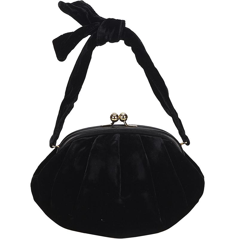 7efa4835fc1029 Buy Chanel Black Velvet Frame Evening Bag 131312 at best price | TLC