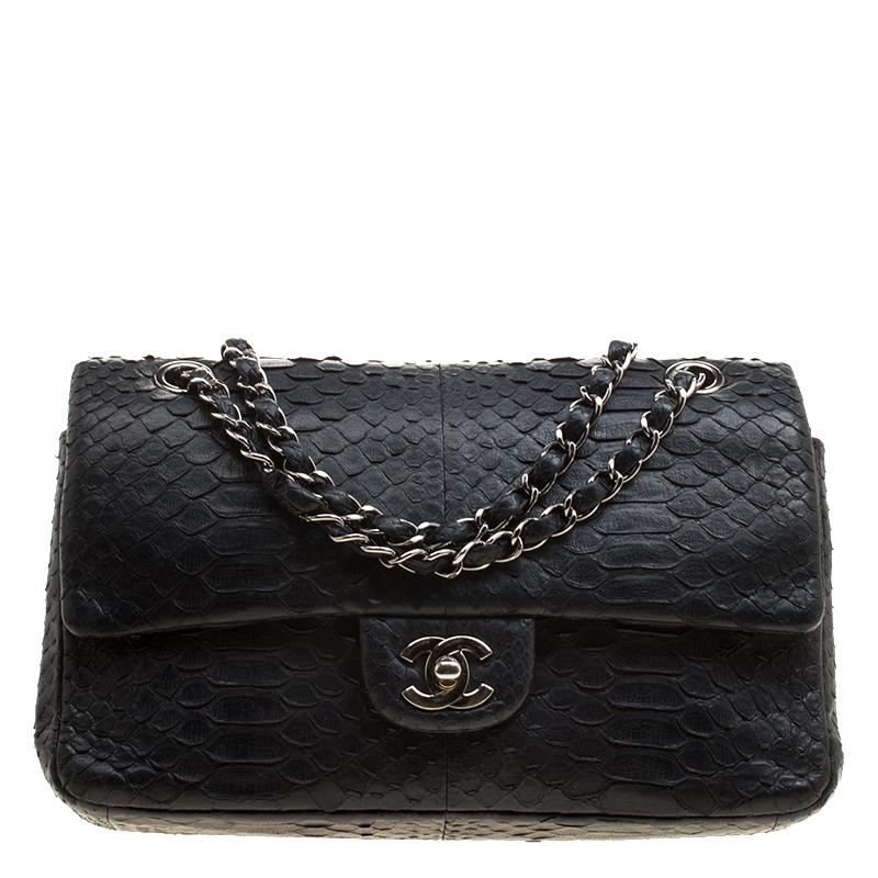 77e2a34c56a653 ... Chanel Classic Black Python Medium Double Flap Bag. nextprev. prevnext
