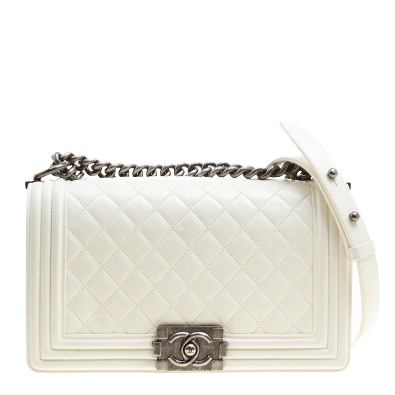 59f19dbe1b2a ... Chanel Cream Quilted Leather Medium Boy Flap Bag. nextprev. prevnext