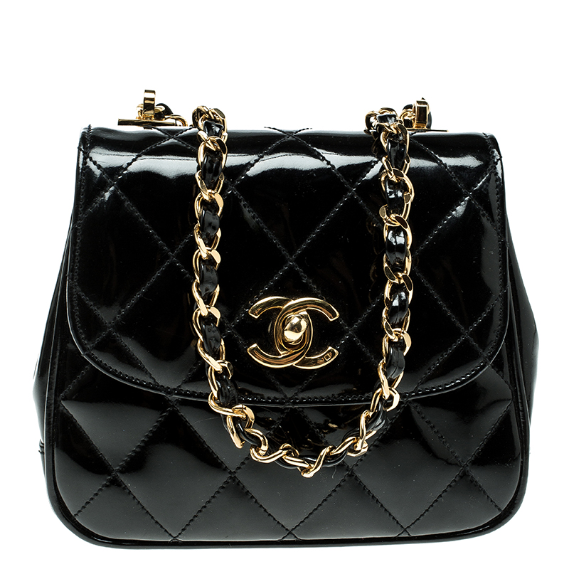 96dafabb501f Chanel Quilted Patent Leather Flap Bag - Best Quilt Grafimage.co