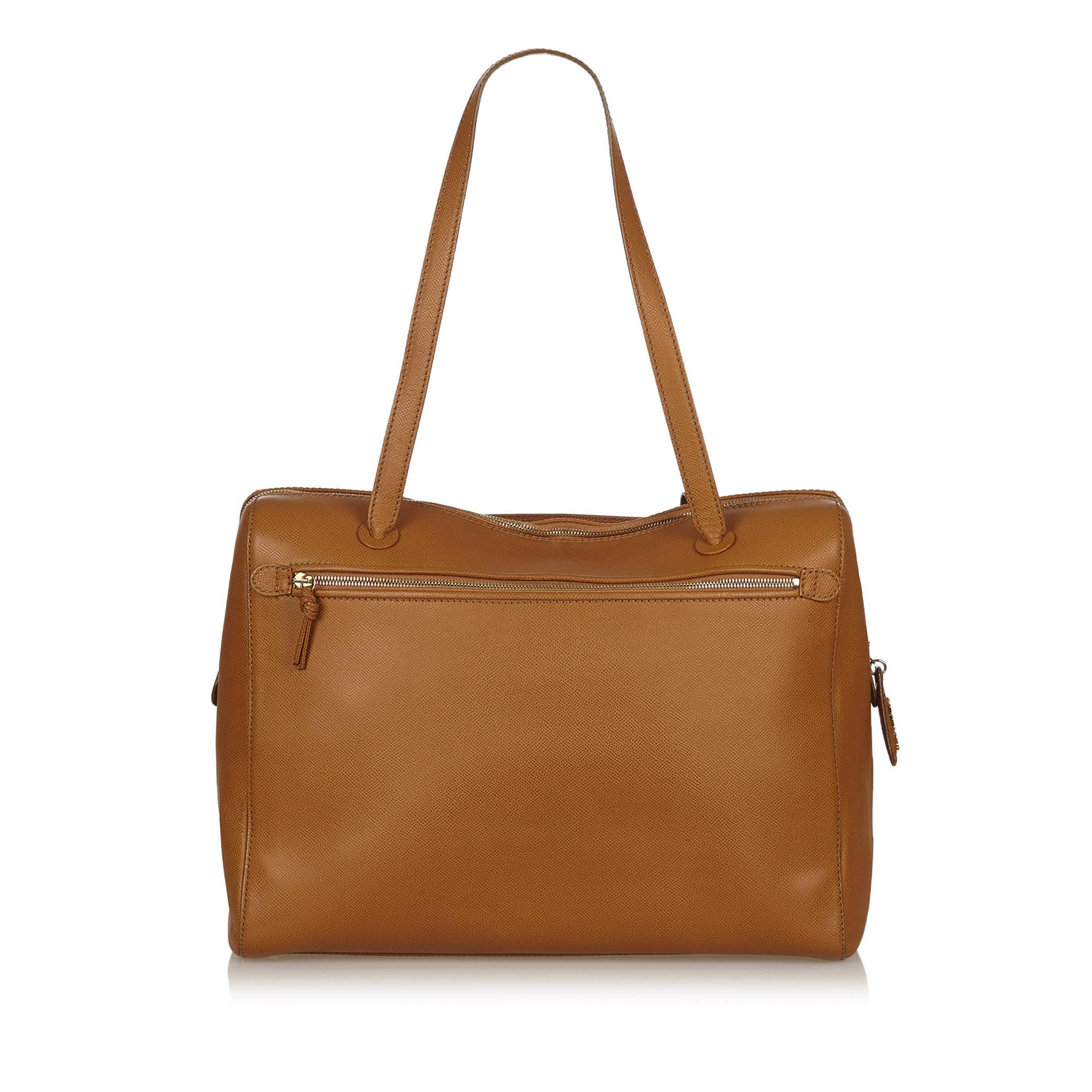 big sale unique style boy Chanel Brown Leather Vintage Shoulder Bag