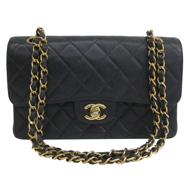 ... Chanel Black Caviar Small Double Flap Classic Shoulder bag. nextprev.  prevnext d15f986fed6fb