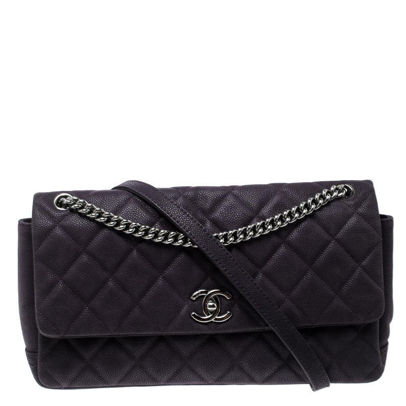 05808956b6c7 ... Chanel Matte Purple Quilted Caviar Leather Medium Lady Pearly Flap Bag.  nextprev. prevnext