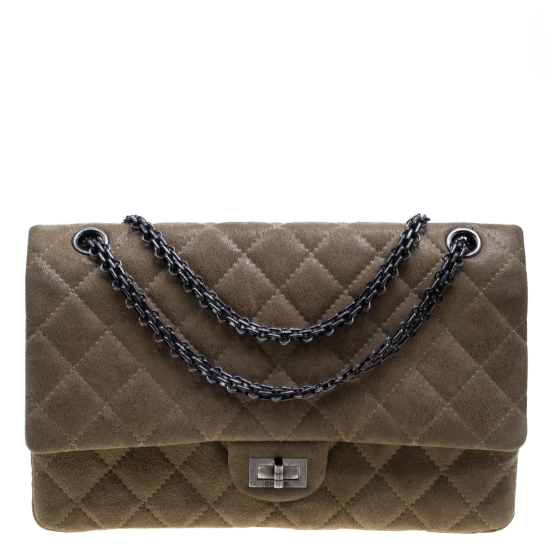 dffbd41b589b0d Buy Chanel Beige Quilted Glazed Suede Reissue 2.55 Classic 226 Flap ...