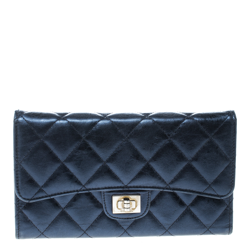 bee32a181c6470 ... Chanel Metallic Blue Quilted Leather Reissue Trifold Wallet. nextprev.  prevnext