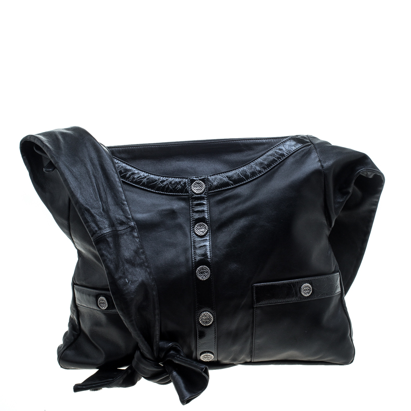 92ec657a16c8 Buy Chanel Black Leather Large Girl Chanel Bag 144161 at best price ...