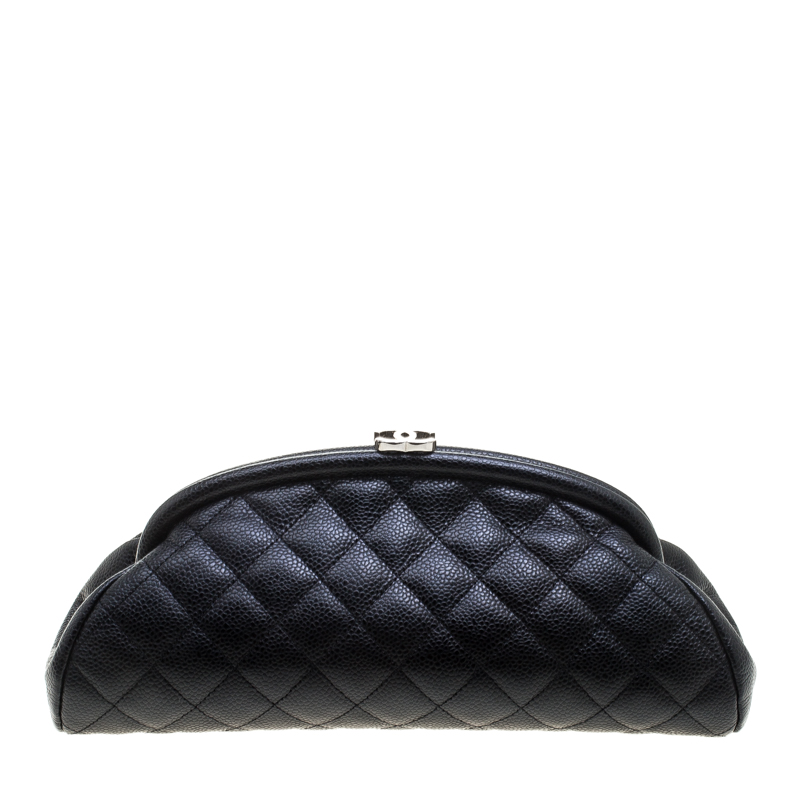 d2fa952ffe2d Buy Chanel Black Quilted Caviar Leather Timeless Clutch 144700 at ...