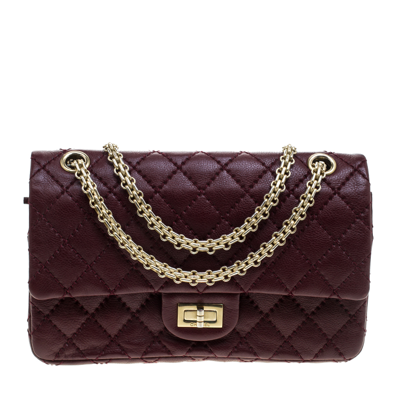6bcee4b3b133 Buy Chanel Burgundy Quilted Leather Reissue 2.55 Classic 225 Flap ...