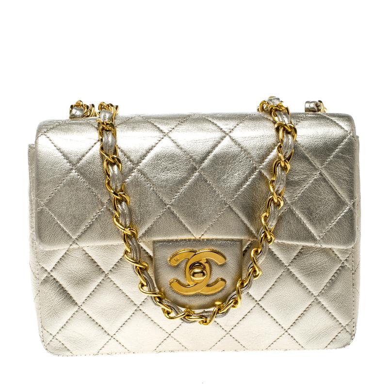 629e3d7ac91fd5 ... Chanel Light Gold Quilted Leather Mini Vintage Classic Single Flap Bag.  nextprev. prevnext